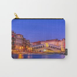 Rialto Bridge and Grand Canal in a blue hour Carry-All Pouch