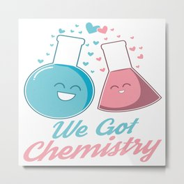 Chemistry Science Scientist Student Couple Gift Metal Print