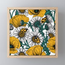 The meadow in yellow Framed Mini Art Print