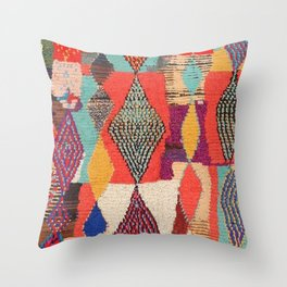Moroccan rug pattern animal abstract modern Throw Pillow