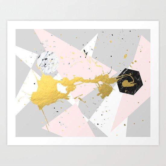 Gold Splatter #society6 #decor #buyart Art Print