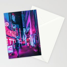Rushing Into Tokyo's Neon Stationery Cards