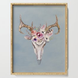 Deer Skull 2 Serving Tray