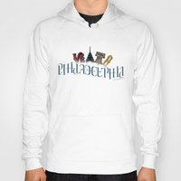 philadelphia Hoodies featuring Philadelphia Ambigram by ambigraphix