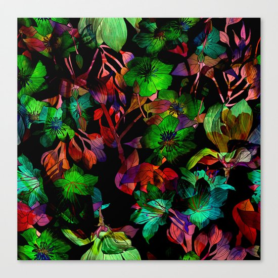 Colorful Floral Pattern Canvas Print