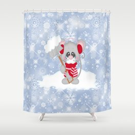 Time To Shovel Shower Curtain