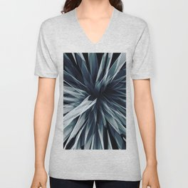 Perspective Facets-Retro Blue Unisex V-Neck
