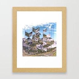 Mountain Fragments Framed Art Print