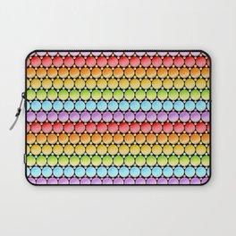 Rainbow Dotty Stripes Laptop Sleeve