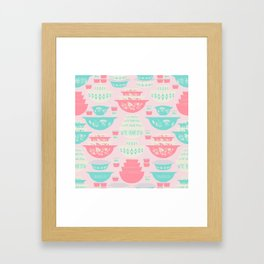 Pink and Turquoise Everything Framed Art Print