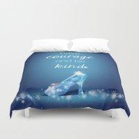 cinderella Duvet Covers featuring Cinderella by Syafickle