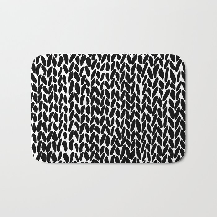 Hand Knitted Black S Bath Mat