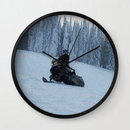 Snowmobiling Fool Wall Clock