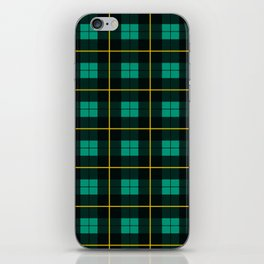Minimalist Wallace Hunting Tartan Ancient iPhone Skin