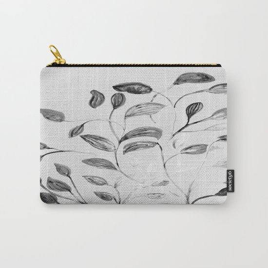 Red and Green Leaves! Romantic Silver Grey! Carry-All Pouch