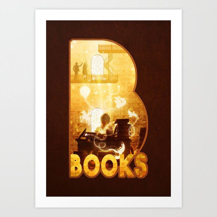 B for Books Art Print