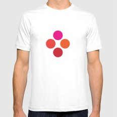 Circle Atoms MEDIUM Mens Fitted Tee White