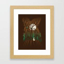 Bunny In The Woods Framed Art Print