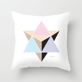 MI MERKABA - Light State Throw Pillow