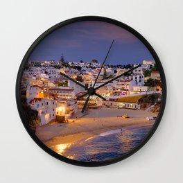 Carvoeiro in the evening Wall Clock