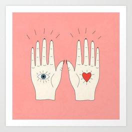 Raising Hands Art Print