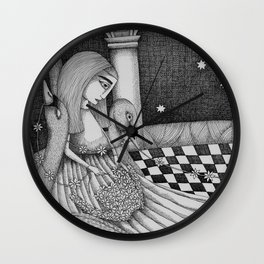 The Star Flowers (1) Wall Clock