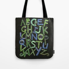 Monster Alphabet. Tote Bag