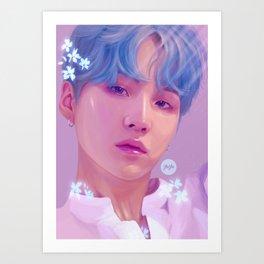 Flowerboy Suga Art Print