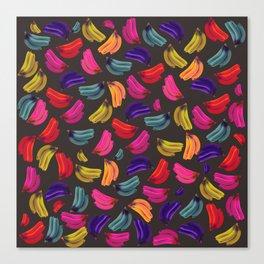 Bananas Coloridas Canvas Print