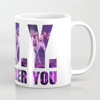 artrave Mugs featuring artRAVE G.U.Y. by ARTPOPdesigns