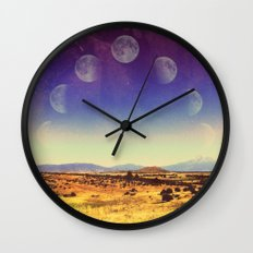 California Moon Wall Clock