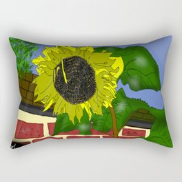 Thee Sunflower by Mgyver Rectangular Pillow