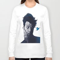 tom waits Long Sleeve T-shirts featuring Tom Waits - Blue Valentines by Brad Collins Art & Illustration