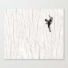 Woman Climbing a Wrinkle Canvas Print