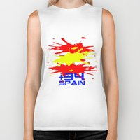 spain Biker Tanks featuring Spain Code by Maxvtis