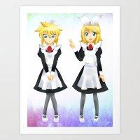 Kagamine Twins Art Print