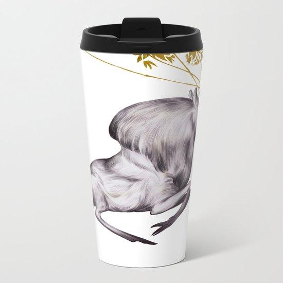 The Stag & His Reflection Metal Travel Mug