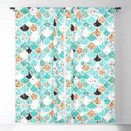 Audrey Mermaid Pattern 09 Blackout Curtain