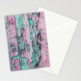 Peeled pink paint Stationery Cards