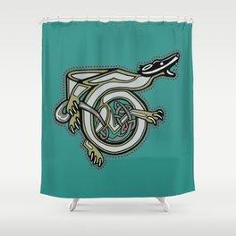Celtic Badger Letter T Shower Curtain