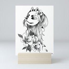 Smoking Kitsune Mini Art Print