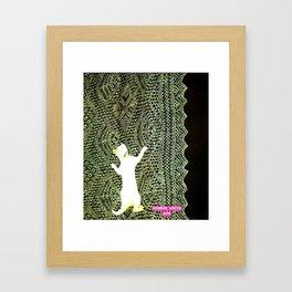 Climbing the Net handcut collage Framed Art Print
