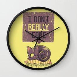 I Dont Care Cat Wall Clock