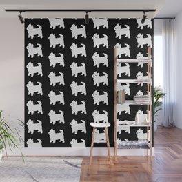 Westie Dog Pattern Wall Mural