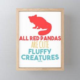Red Panda panda Himalayan Asia Framed Mini Art Print