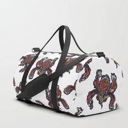 T.F TRAN ORANGE BUTTERFLY IRIS Duffle Bag