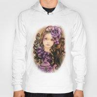 lavender Hoodies featuring Lavender by Sheena Pike ART