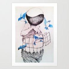 Human flight Art Print