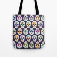 dia de los muertos Tote Bags featuring Dia de los muertos by ewdondoxja