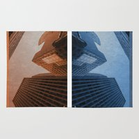 cities Area & Throw Rugs featuring Two Cities by brittcorry